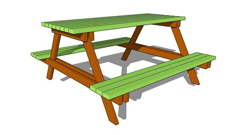 how to draw a picnic table picnic table plans free