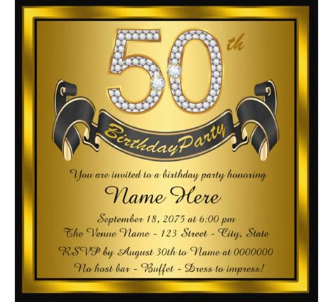 free 50th birthday card template 14 50th birthday invitations free psd ai vector eps
