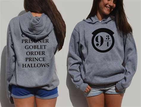 Sweater Jaket Harrypotter harry potter hoodie 9 3 4 front and back print hooded