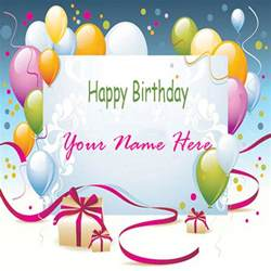 write your name on beautiful birthday card online