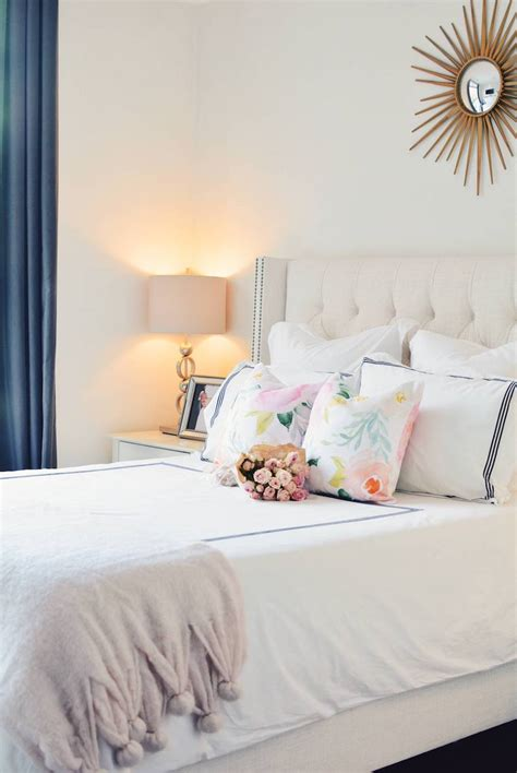 White Bedroom Throw Pillows A Pink Bedroom Update