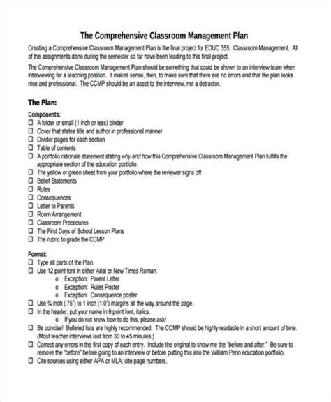 47 management plan exles
