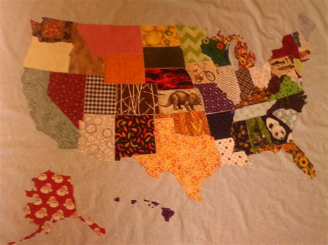 Usa Quilt by Usa Map Quilt 30 Hours