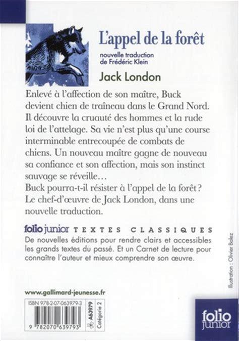 Resume L Appel De La Foret by Livre L Appel De La For 234 T