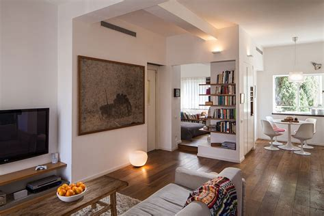 living in a small apartment small apartment in tel aviv gets a trendy modern makeover