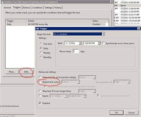 how to schedule a task in windows task scheduler windows 2008 r2 restart