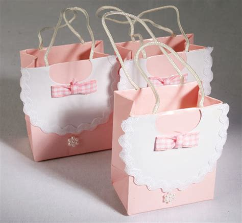baby shower goody bags 12 pink bib baby shower favor bags ebay