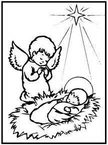 Baby Jesus Nativity Coloring Pages » Home Design 2017