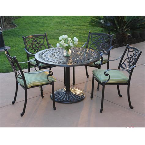 backyard table set meadow decor kingston 5 piece patio set 42 inch round