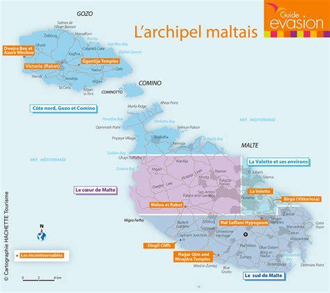 0004490487 carte touristique malta and info carte touristique malta voyages cartes