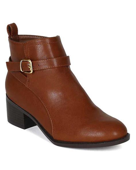 Angkle Heels 23 breckelles capital 23 new pu chunky heel buckle