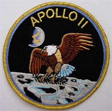 apollo mission patches ebay apollo 11 mission patch official nasa neil armstrong buzz