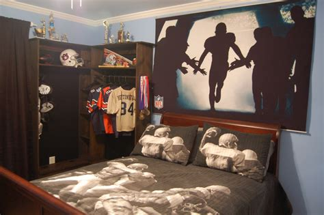 teen boy room decor football bedroom bukit
