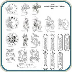 flower clock template floral clocks classic carving patterns