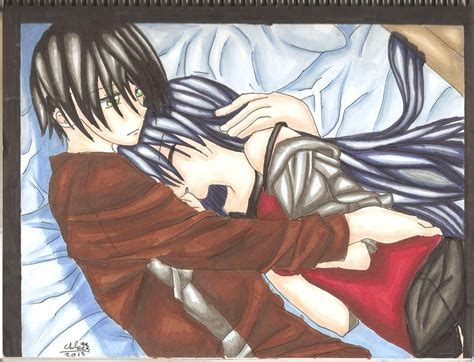anime couple in bed anime couple cuddling in bed by borderliningsanity on