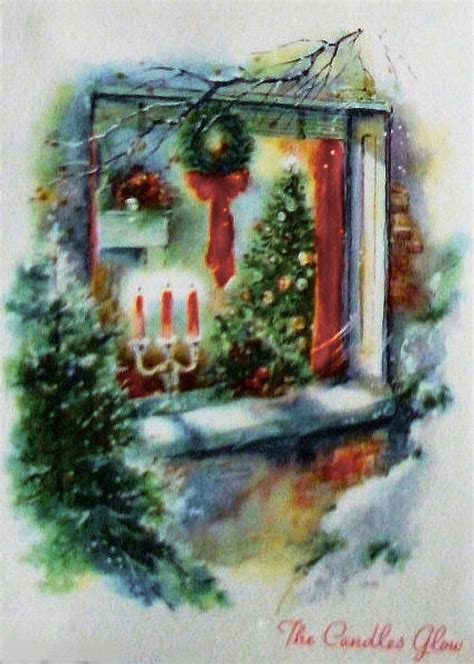 fashioned christmas cards windows images  pinterest vintage christmas cards