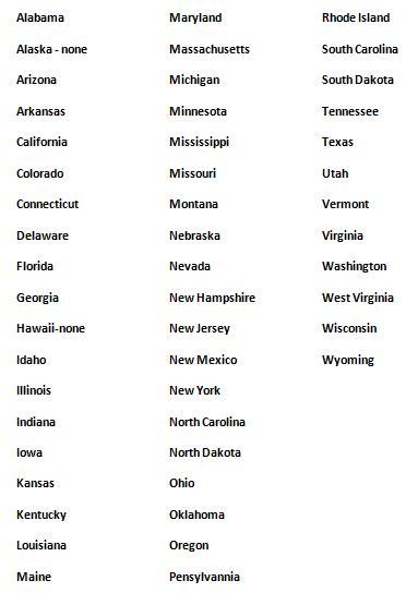 List Of The 50 States Pics Photos List Of 50 States Quarters Printable List La