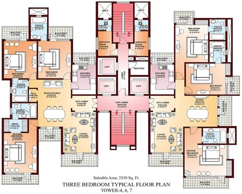 apartments floor plans 3 bedrooms design 2018 with