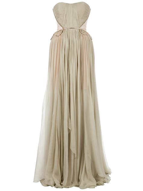 long draped dress maria lucia hohan draped long dress in green lyst