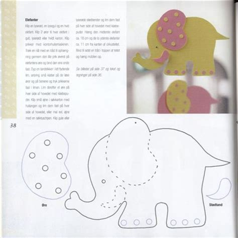 cute elephant pattern elephant template quiet books pinterest