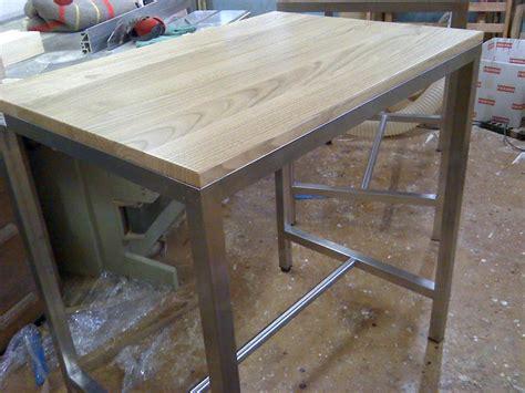 tavolo in castagno tavolo acciaio inox e piano in castagno al castagno