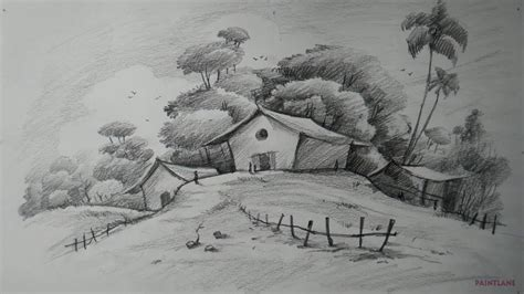 easy pencil drawing landscape pencil shading landscapes