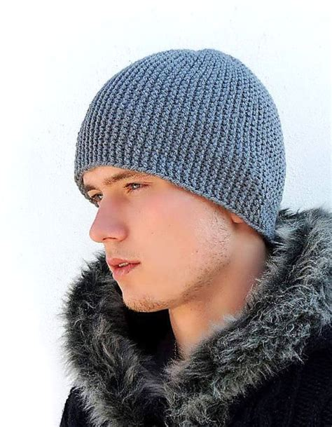 knitted cap grey warm mens knitted hat winter hat s knit hat