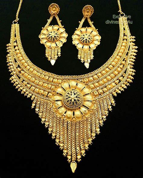 designer gold plated wear indian royal necklace