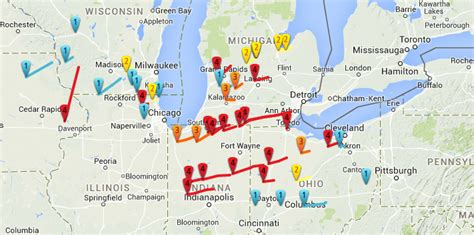 tornado history map palm sunday 1965 southern great lakes ravaged by one of