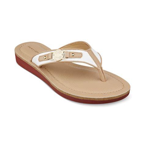 hilfiger sandals hilfiger womens jayne2 sandals in brown lyst