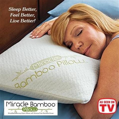 new miracle bamboo pillow size as seen on tv memory