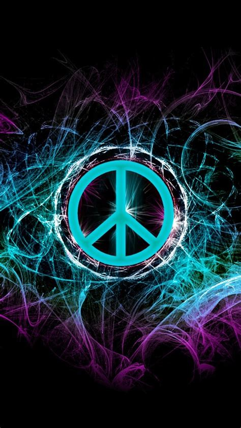 colorful peace sign backgrounds wallpapersafari