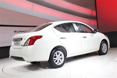 nissan sunny 2014 white nissan sunny facelift launch in july this year motoroids