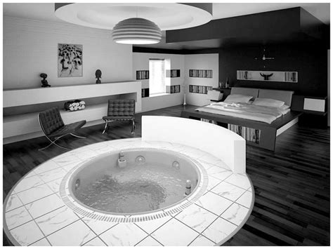 bedroom design with jacuzzi black white and red bedroom themes cool black and white