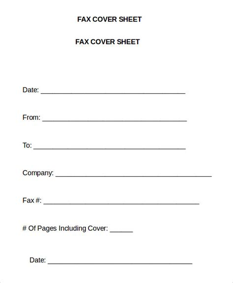 Fax Cover Sheet Templates Word by Word Fax Template 12 Free Word Documents