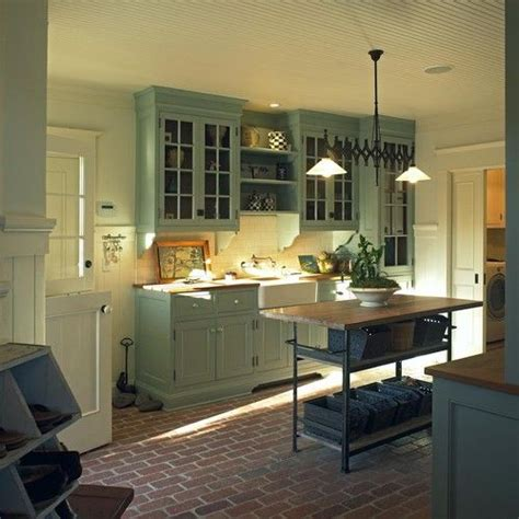 Green Country Kitchen Green Country Kitchen Cabinets Kitchen Ideas Pinterest