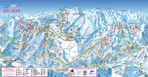 claviere web cartina claviere mappa piste di sci claviere dove sciare