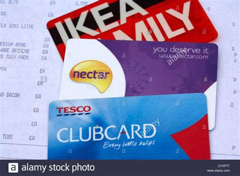 Gift Card Mall Locations - uk store loyalty cards including nectar tesco clubcard and ikea stock photo royalty