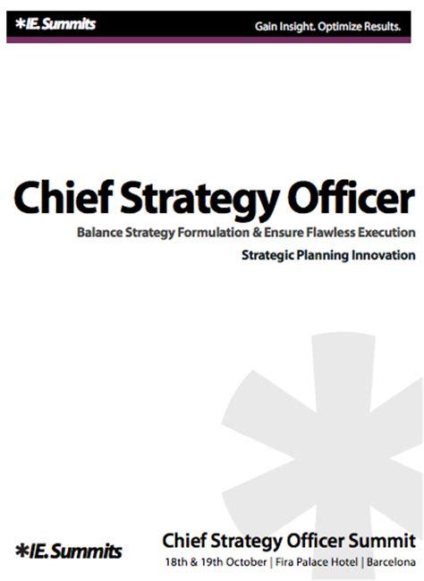 Chief Strategy Officer by Chief Strategy Officer Summit Innovation In Strategic Planning Barcelona 2012