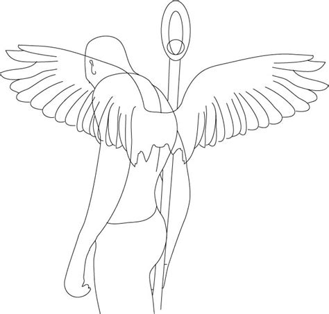 tattoo angel outline tattoo images by hannah pollock