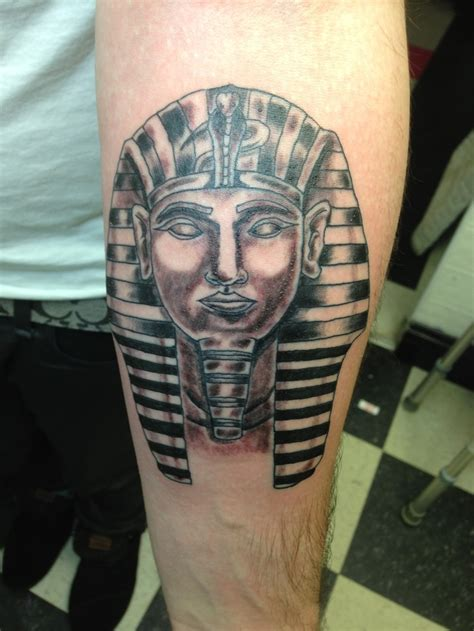 pharoah tattoo pharaoh in black and grey work