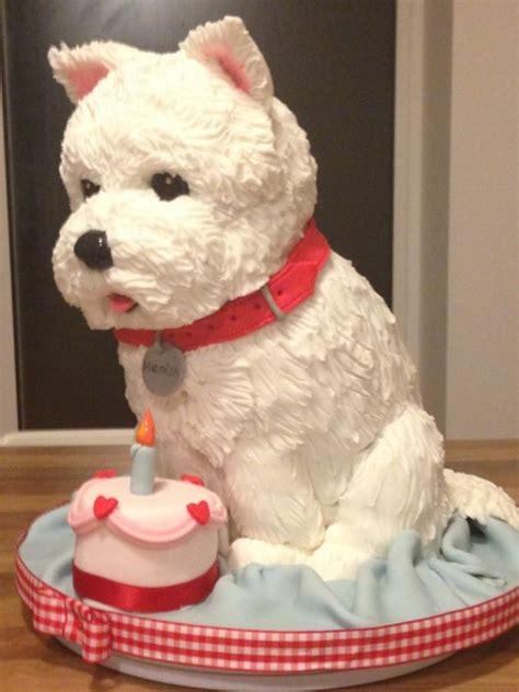 westie dog cake cake   rosebud cake company cakesdecor