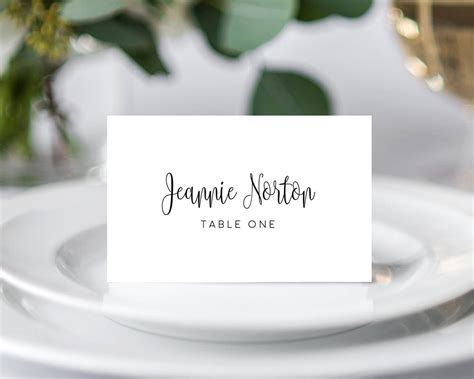 templates for place cards for weddings wedding place card templates 183 wedding templates and