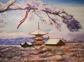 japanese landscape painting japanese landscape by kirill danileiko