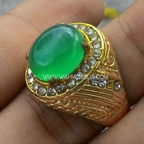 Cincin Batu Topas Hijau batu cincin kristopas kode 347 wahyu mulia