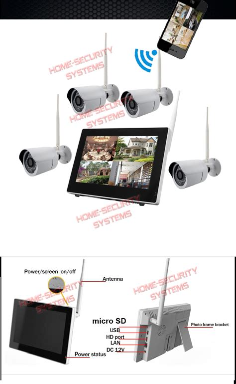 home security system 500gb ip wireless farm house