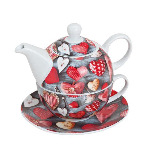 tea for one teekanne mit tasse herzen geschenkidee de