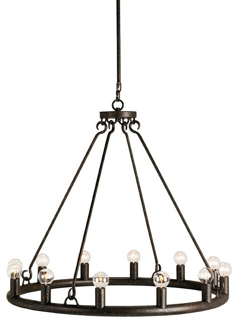 Circular Chandelier Lighting Wilford Circular Chandelier By Currey And Company Rustic