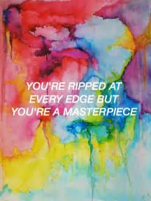 colorful lyrics colors halsey made by hoodslyricart