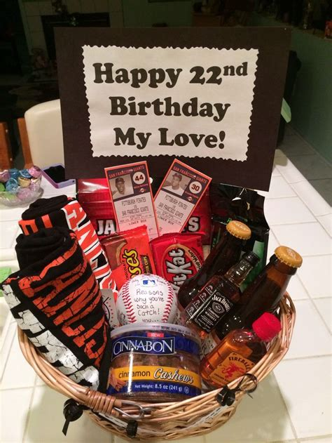 648 Best Images About Gift Baskets On Gifts Sf Giants Baseball Gift Basket For My Boyfriend S Birthday Complete With Two Giants Shirts For